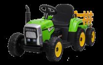 Tractor y trailer 12V Eléctrico para niños